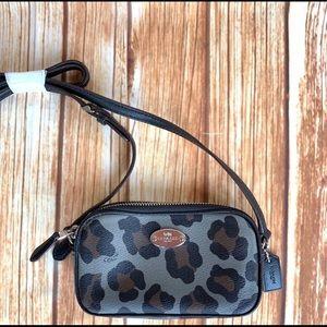 Coach crossbody leopard bag
